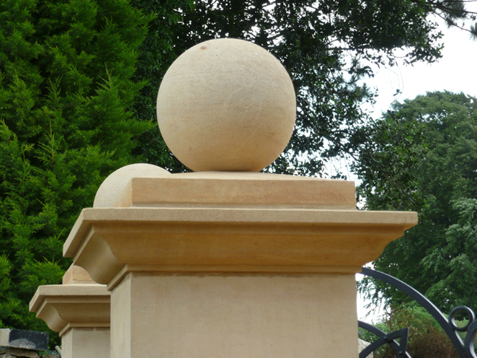 And Pier Caps Available In Composite Stone From Plain Flat